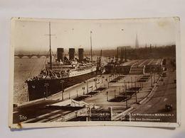 Carte Photo Vintage. L'original. Le Navire. Bateau. Port - Bateaux
