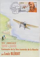 Célébrités Aviateur : Blériot Plage (Pas De Calais) Centenaire De La 1ère Traversée De La Manche Loois Blériot 25-07-09 - Célébrités