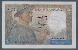 10 Francs 10.3.1949 AUNC - 10 F 1941-1949 ''Mineur''