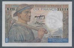 10 Francs 10.3.1949   AUNC / SPL - 1871-1952 Circulated During XXth