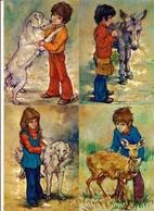 Lot De 4 Cartes Postales  Editions Yvon -  LES GAMINS  D'Antonio Gonzalez  - Enfants Et Animaux - Collezioni & Lotti