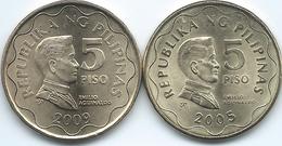 Philippines - 5 Piso - 2005 (Die I) & 2009 (Die II) - KM272 - Philippines