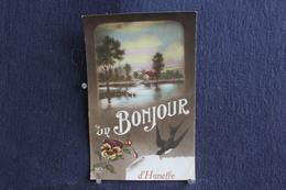 E-15 / Liège  Donceel - Un Bonjour D'Haneffe  / Attention !! La Carte A Eté Plie Au Millieu Voir  Scaner / Circulé  1915 - Donceel