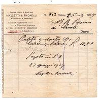 CG - Ditta Mazzetti & Radaelli - Fabbrica Arredi Sacri - Milano - Fattura Del 25/2/1907 - Italia