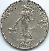 Philippines - 1958 - 50 Centavos - KM190 - Filippijnen