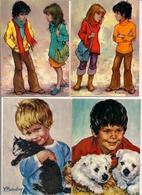 Lot De 4 Cartes Postales  Editions Yvon -  LES GAMINS  D'Antonio Gonzalez  - NOS ENFANTS ET LEURS AMIS Par Baudry - Collezioni & Lotti