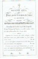 WAILLET / BRUXELLES - Henri Baron VAN DERSTRATEN-WAILLET - Né Château De Waillet 1804 Et Décédé 1853 (carte Porcelaine) - Andachtsbilder