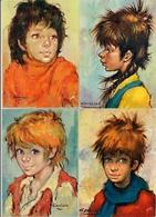 Lot De 4 Cartes Postales  Editions Yvon -  LES GAMINS  D'Antonio Gonzalez - Collezioni & Lotti