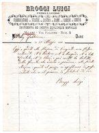 CG - Ditta Broggi Luigi- Cesellatore E Arredi Di Chiesa - Milano - Fattura Del 10/5/1880 - Italia