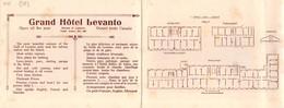 """010452 """"(SP)  """"LEVANTO - GRAND HOTEL LEVANTO - GIARDINO, TENNIS, PATTINAGGIO"""" ANIMATO. PUBBLIC. ANNI '30 XX SEC. ORIG. - Werbung"""