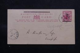 MAURICE - Repiquage Du Tennis Club Au Verso D'un Entier Postal Surchargé De Curepipe En 1903 - L 59516 - Mauritius (...-1967)