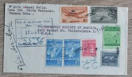 Timbres Cuba Habana Havane  Sur Lettre Cover De   1953   Tres Bon Etat   Voir Scans - Cuba