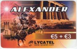 AUSTRIA C-216 Prepaid Lycatel - Historic Ruler, Alexander The Great - Used - Austria