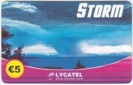AUSTRIA C-218 Prepaid Lycatel - Nature, Weather, Storm - Used - Austria