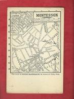 Carte - Montesson  - Plan Extrait Du Guide Hannequin - Montesson
