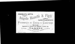 CG - Ditta Angelo Bianchi & Figli - Varese - Fonderia Di Ghisa E Campane - Cartoncini Da Visita