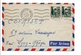 MAROC AFFRANCHISSEMENT COMPOSE SUR LETTRE POUR LA FRANCE 1953 - Marokko (1956-...)