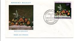MADAGASCAR FDC 1970 FRUITS DE MADAGASCAR - Madagascar (1960-...)