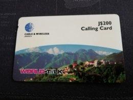 JAMAICA  J$200,-  PREPAID World Talk  NEWCASTLE   (P82)  THICK CARD    Fine Used Card  **1708 ** - Jamaica