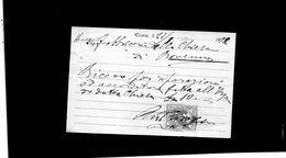 CG - Ditta Antonio Proserpio - Fabbrica Organi Di Chiesa - Como - Fattura Del 21/1/1872 - Italia