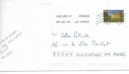 FRANCE 2009 / YT AA  330 MONDE 20 Gr / CHATEAU D'AZAY Le RIDEAU  / Sur Enveloppe Voyagée 2018 !! - 1961-....