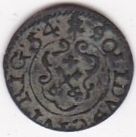 Swedish Livonia City Of Riga. 1 Solidus 1654 Christina. KM# 21 - Lettonie