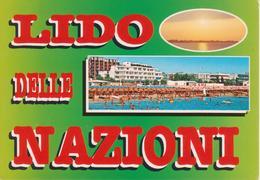 452 COMACCHIO - LIDO NAZIONI - VEDUTINE MULTIVUES - SPIAGGIA DAL MARE - ANIMATA - NON VIAGGIATA - Italia