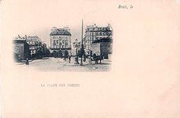 Cpa Précurseur BREST 29 La Place Des Portes - Brest