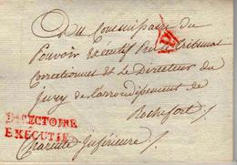 MARQUE POSTALE DIRECTOIRE EXECUTIF LE 10 VENTOSE AN 5 + (P) - Postmark Collection (Covers)