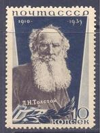 1935. USSR/Russia, Lew Tolstoy, Writer, Mich.537, 1v, Unused/mint - 1923-1991 USSR