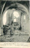 CPA -  PROSNES - (G.GUERRE 1914/15) - RUINES DE L'INTERIEUR DE L'EGLISE) - France