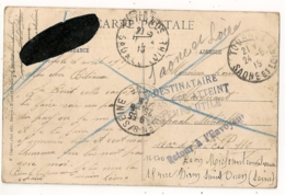 TOURNUS Vers S.P. 110. RETOUR A L'ENVOYEUR TOURNUS. PAS ATTEINT EN TEMPS UTILE. Puis ST OUEN. - Postmark Collection (Covers)
