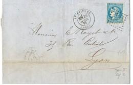 20C BORDEAUX T3 R2 SUPERBE LOIRE LETTRE AVEC CORRESPONDANCE  1871 ST ETIENNE - Marcophilie (Lettres)