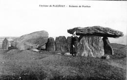 Carte 1920 ENVIRONS DE PLOZEVET / DOLMENS DE POULHAN (dolmen) - Plozevet
