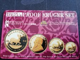 SOUTH AFRICA - CHIPCARD  Proof Kruger Set (tel.080-00), Transtel Trial Card R50, Tirage  2760 EX, Min T**1714** - Sudafrica