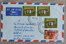 Timbres  Nouvelle Guinee  Papua New Guinea Sur  Lettre Cover De  Papua   1974   Tres Bon Etat    Voir Scans - Guinée (1958-...)