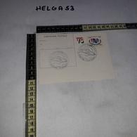 FB0535 CECINA 10'' MOSTRA FILATELICA AUTOMOBILE A TURBINA 1977 TIMBRO TARGHETTA SU CARTOLINA POSTALE - Interi Postali