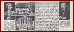 Jean Sébastien Bach. Divers Vues. Portraits, Maison Natale, Orgue De L'Eglise Neuve De Arnstadt ... Larousse 1960. - Documents Historiques