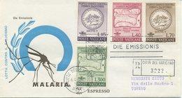 VATICANO - FDC VENETIA 1962  - MALARIA  - VIAGGIATA IN RACCOMANDATA PER TORINO - FDC
