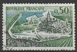France 1961-62 N° 1314b Cognac 3 Péniches Et Digue Absente  (G10) - Errors & Oddities