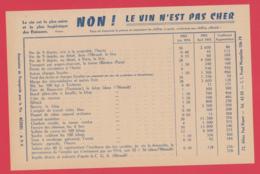 Dépliant-BÉZIERS-PROPAGANDE Pour Le VIN - NON, Le VIN N'est Pas Cher ! 1953 **2 SCAN - Food