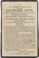 Doodsprentje  *  Dewitte Maria  (° Brugge 1886 / + Molendorp (Bredene) 1916)  X Zwaenepoel (Onderwijzeres) - Religion & Esotericism