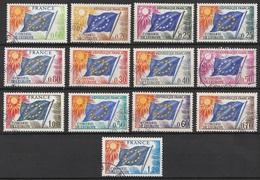 France Service 1963-76 N° 27-35 Et 46-49  Obl Complaisance Conseil De L'Europe (G10) - Oblitérés