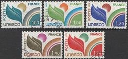 France Service 1976-78 N° 50-52 Et 56-57  Obl Complaisance UNESCO (G10) - Service