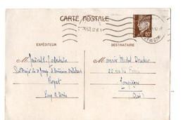 B3  15 02 1942 Entier Pétain Etat Major Armée D'Armistice à Royat - Marcophilie (Lettres)
