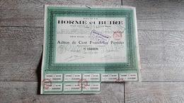 Action  Ancienne Société Horme Et Buire Siège Social Lyon 1923 - Navigation