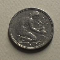 1950 - Allemagne - Germany - 50 PFENNIG, (F), KM 109.1 - [ 7] 1949-… : RFA - Rep. Fed. Alemana