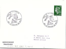 CHEMIN DE FER -  RAIL ET PHILATELIE 13 OCT. 1973 LA-BARTHE-DE-NESTE 65    / 1 - Marcofilia (sobres)
