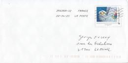 """France PAP Avec Simili Timbre Collector """"mon Fantastique Carnet"""" (2019) Oblitéré 22.04.20 - Entiers Postaux"""