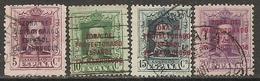 MARRUECOS-1923-1930-ED. 82 A 85 SELLOS DE ESPAÑA HABILITADO. ALFONSO XIII 5, 10, 15, 20 C.  -USADO- - Marocco Spagnolo